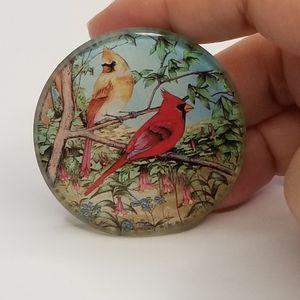 VINTAGE BIRDS ON A TREE BROOCH PIN